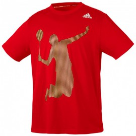 Tee-shirt Adidas badminton player rouge
