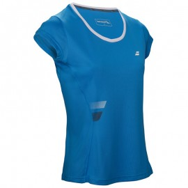 Tee-shirt Babolat Core Flag Club Girl bleu