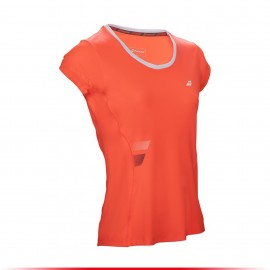 Tee-shirt Babolat Core Flag Club Girl corail