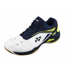 Chaussures Yonex Power Cushion 65Z Wide men blanches et bleues