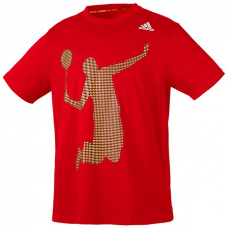Tee-shirt adidas badminton player rouge
