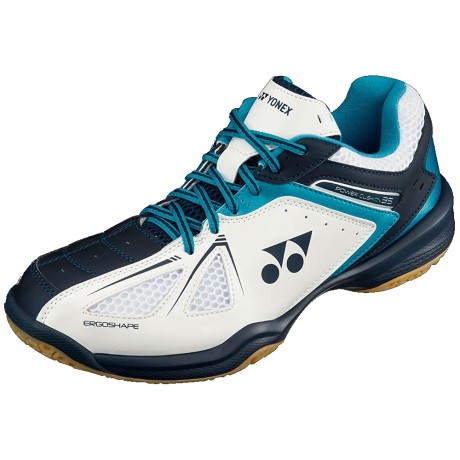 Chaussures Yonex Power Cushion 35 men blanches et bleues