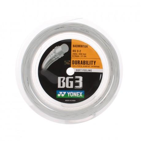 Bobine de cordage Yonex BG 3 blanc