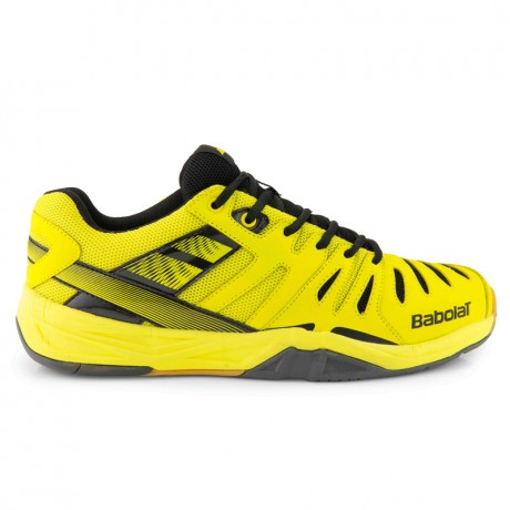 Chaussures Babolat Shadow Club junior jaunes