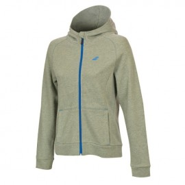 Sweat-shirt à capuche Babolat Core women gris chiné 2018