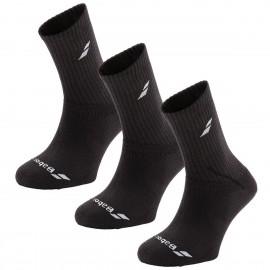 Pack de 3 paires de chaussettes Babolat noires 2018
