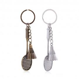 Porte-clés volant+raquette métal