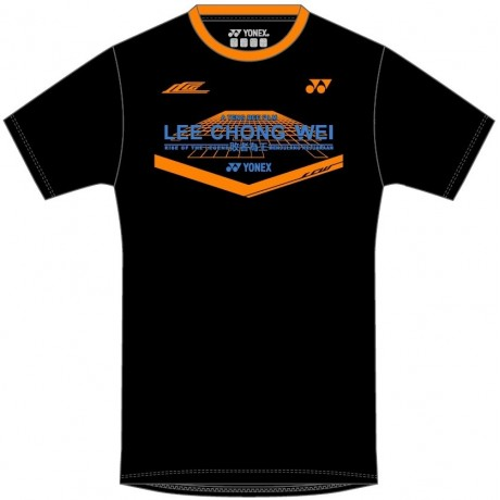 Tee-shirt Yonex 18071 Lee Chong Wei Movie noir