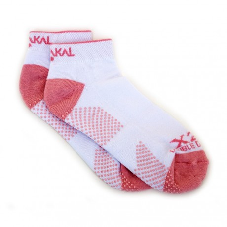 Chaussettes Karakal Trainer Lady blanches/roses