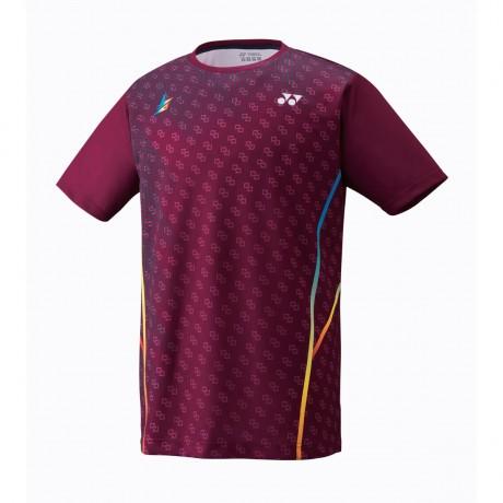 Tee-shirt Yonex 16392EX Lin Dan men bordeaux