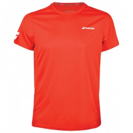 Tee-shirt Babolat Core Flag Club boy rouge