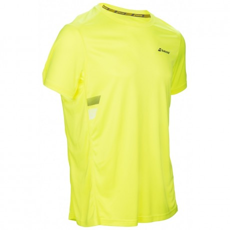 Tee-shirt Babolat Core Flag Club boy jaune