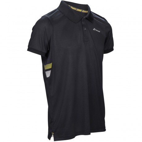 Polo Babolat Core Flag Club boy noir