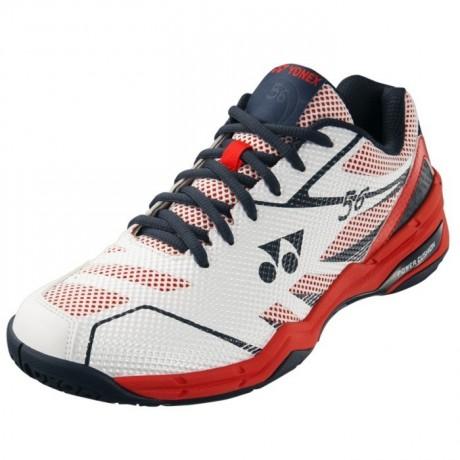 Chaussures Yonex Power Cushion 56 blanche et rouge