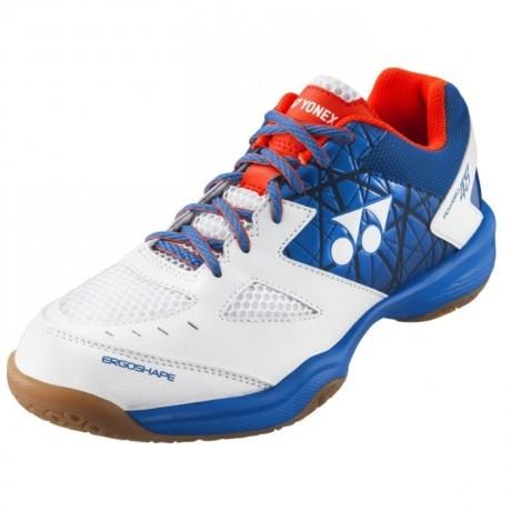 Chaussures Yonex Power Cushion 48 blanche et bleue