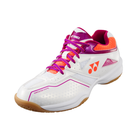 Chaussures Yonex Power Cushion 36 lady blanche et rose