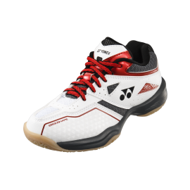 Chaussures Yonex Power Cushion 36 junior blanche et rouge