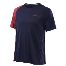 Tee-shirt Babolat Perf Crew Neck men 2019 bleu ciel