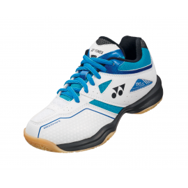 Chaussures Yonex Power Cushion 36 junior blanche et bleu