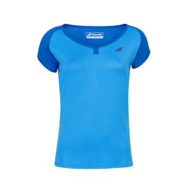 Tee-shirt Babolat play cap sleeve Girl bleu