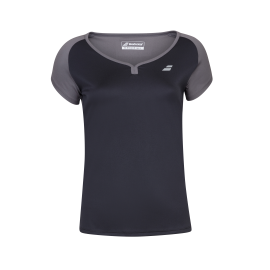 Tee-shirt Babolat play cap sleeve lady noir