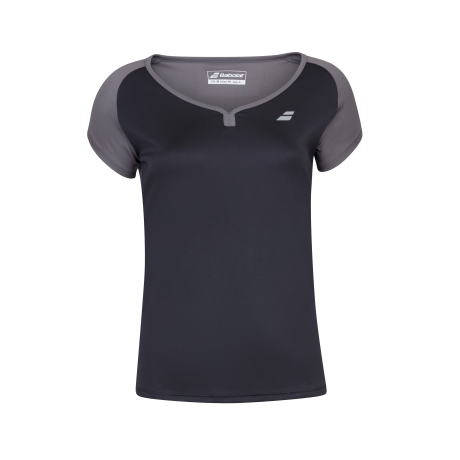 Tee-shirt Babolat play cap sleeve Girl noir