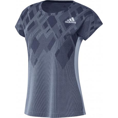 Tee-shirt Adidas Color Block lady bleu