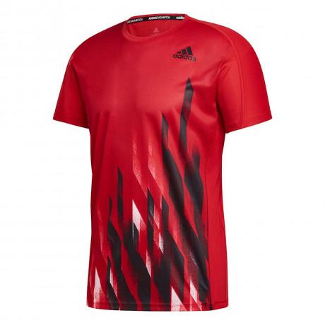 Tee-shirt Adidas Graphic men Rouge