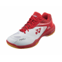 Chaussures Yonex Power Cushion 65Z2 Wide rouge et blanc
