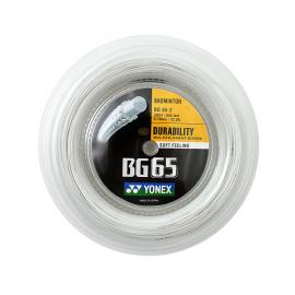 Bobine de cordage Yonex BG 65 blanc