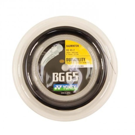 Bobine de cordage Yonex BG 65 noir