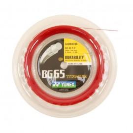 Bobine de cordage Yonex BG 65 rouge