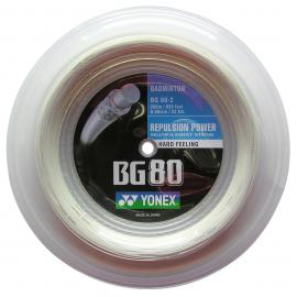 Bobine de cordage Yonex BG 80 blanc