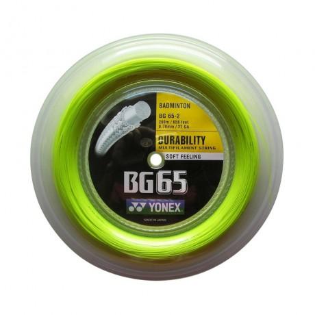Bobine de cordage Yonex BG 65 jaune