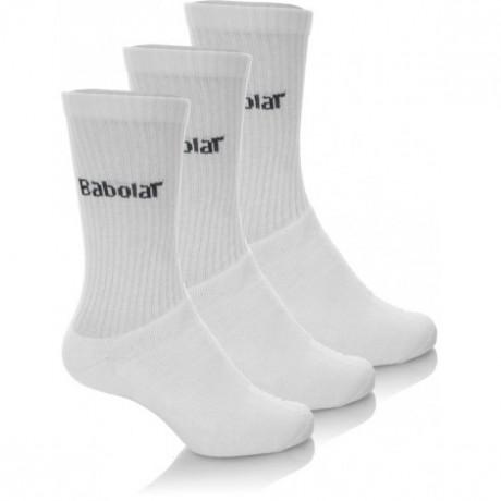 Pack de 3 paires de chaussettes Babolat blanches