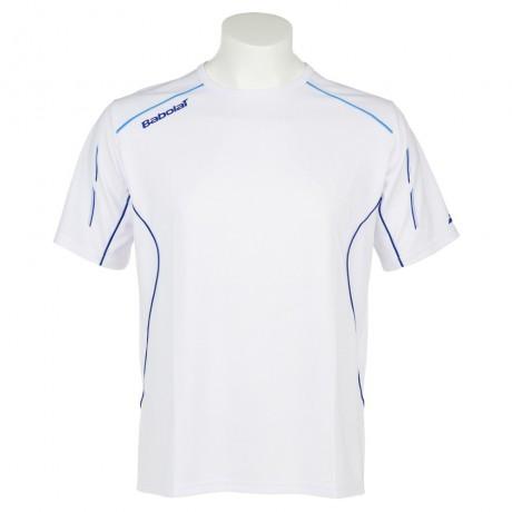 Tee-shirt Babolat Match Core boy blanc