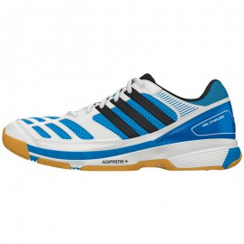 Chaussures Adidas BT Feather 2 men blanche et bleue