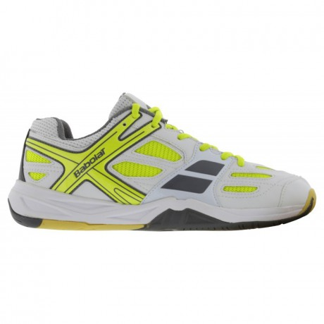 Chaussures Babolat Shadow Club blanches junior