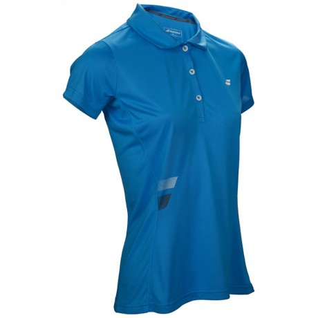 Polo Babolat Core Club Lady bleu