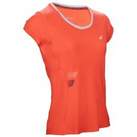 Tee-shirt Babolat Core Flag Club Lady rouge