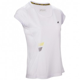 Tee-shirt Babolat Core Flag Club Lady blanc