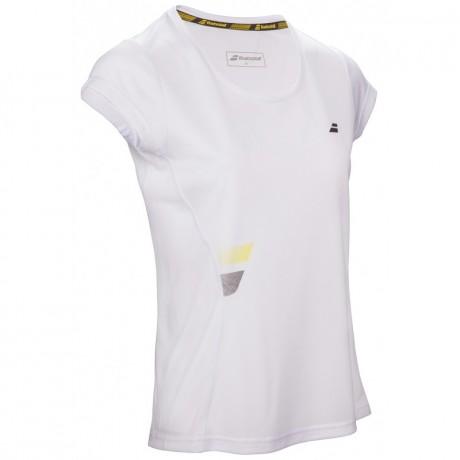 Tee-shirt Babolat Core Flag Club Lady blanc