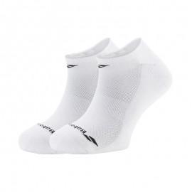 Pack de 2 paires de chaussettes Babolat Invisible men blanches