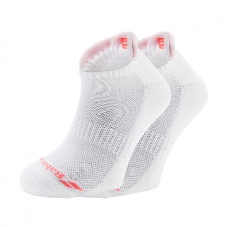 Pack de 2 paires de chaussettes Babolat Invisible lady blanches