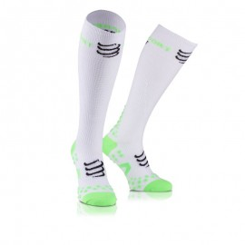 Chaussettes de compression Compressport Full socks Recovery blanches