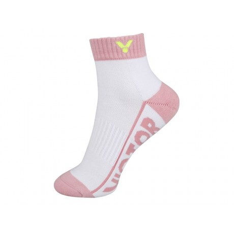Chaussettes Victor SK235 lady blanches et rose