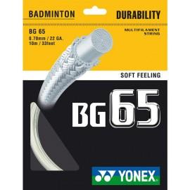 Garniture de cordage Yonex BG65 blanc