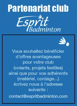 Partenariats clubs badminton