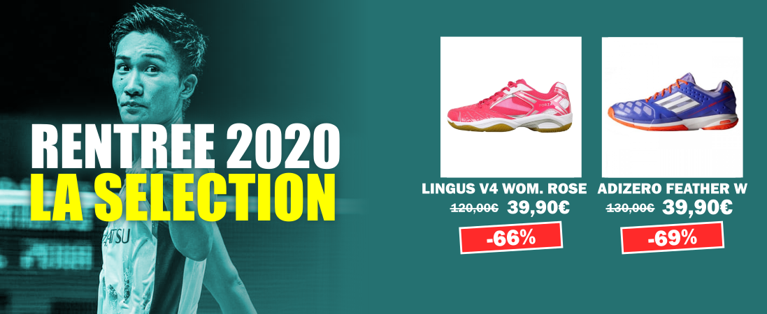 Rentree 2020 Promos chaussures femmes badminton