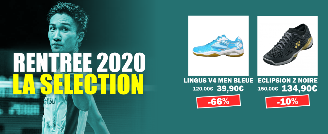 Rentree 2020 Promos chaussures hommes badminton